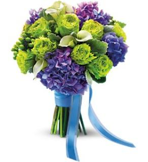Luxe Lavender and Green Bouquet
