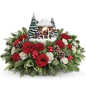 Thomas Kinkade\'s Jolly Santa Bouquet