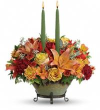 Teleflora\'s Golden Fall Centerpiece