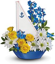 Ahoy It\'s A Boy Bouquet by Telefloral